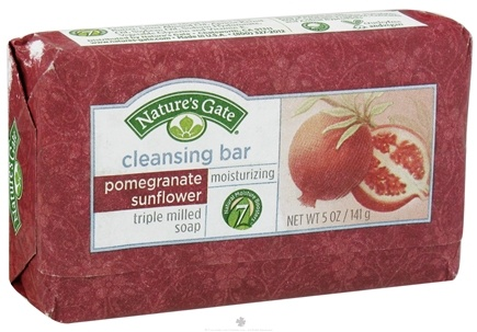 DROPPED: Nature's Gate - Cleansing Bar Soap Moisturizing Pomegranate Sunflower - 5 oz.