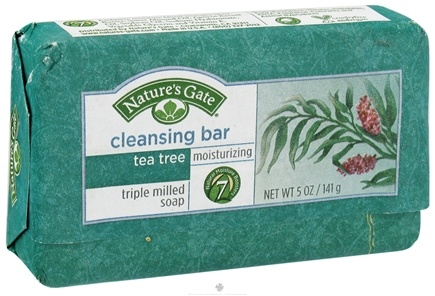 DROPPED: Nature's Gate - Cleansing Bar Soap Moisturizing Tea Tree - 5 oz.
