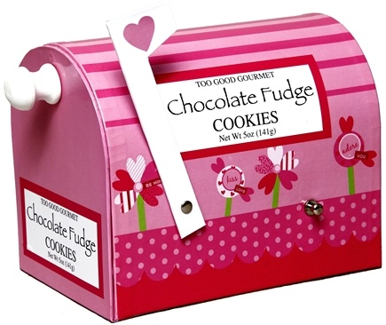 DROPPED: Too Good Gourmet - Chocolate Fudge Cookies Valentine Mail Boxes - 5 oz. CLEARANCE PRICED