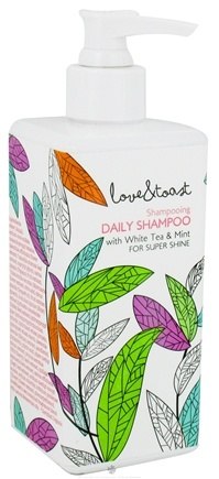 DROPPED: Love & Toast - Shampoo Daily with White Tea & Mint For Super Shine - 8 oz. CLEARANCE PRICED