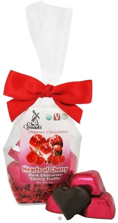 DROPPED: Sjaak's Organic Chocolate - Hearts of Cherry Tote 12 Dark Chocolate Cherry Truffle - 6 oz.