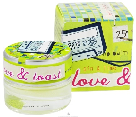 DROPPED: Love & Toast - Lip Balm Gin & Lime - 0.22 oz. CLEARANCE PRICED