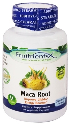 DROPPED: FruitrientsX - Maca Root - 60 Vegetarian Capsules