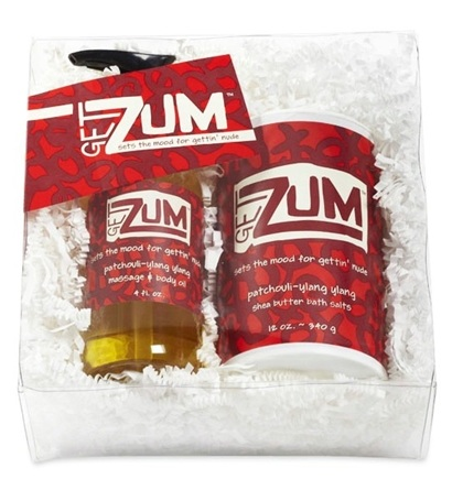DROPPED: Indigo Wild - Get Zum Gift Pack Includes a Massage & Body Oil and Bath Salt Shaker Patchouli-Ylang Ylang