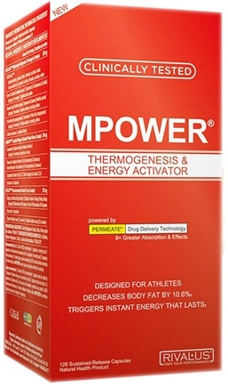 DROPPED: Rivalus - MPower with Raspberry Ketones - 126 Capsules