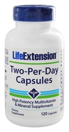 DROPPED: Life Extension - Two-Per-Day High Potency Multivitamin & Mineral - 120 Capsules