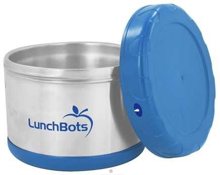 "DROPPED: LunchBots - Insulated Thermal 3.5"" High x 4.5"" Wide Light Blue - 16 oz. CLEARANCE PRICED"