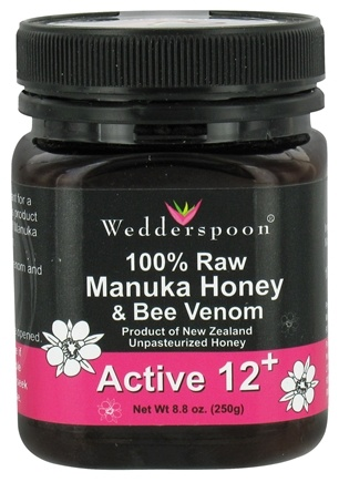 DROPPED: Wedderspoon Organic - 100% Raw Manuka Honey & Bee Venom Active 12+ - 8.8 oz.