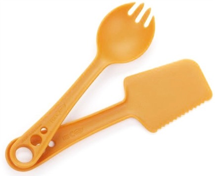 DROPPED: Guyot Designs - MicroBites Utensils 5-in-1 Set Tangerine - CLEARANCE PRICED