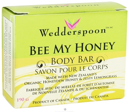 DROPPED: Wedderspoon Organic - Bee My Honey Body Bar HoneyDew Honey & Zesty LemondGrass - 6.7 oz. CLEARANCE PRICED