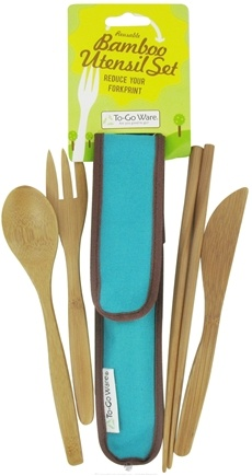 DROPPED: To-Go Ware - RePEaT Bamboo Reusable Utensil Set Agave Blue - CLEARANCE PRICED