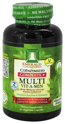 Emerald Labs - Complete + Multi Vit-A-Min Raw Whole-Food Based Formula - 60 Vegetarian Capsules