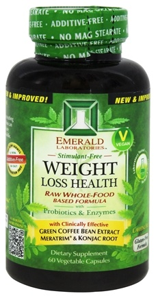 Emerald Labs - Weight Loss Health Raw Whole-Food Based Formula - 60 Vegetarian Capsules