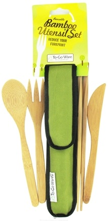DROPPED: To-Go Ware - RePEaT Bamboo Reusable Utensil Set Avocado Green - CLEARANCE PRICED
