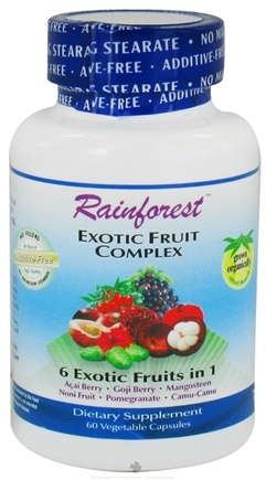 DROPPED: Rainforest - Exotic Fruit Complex - 60 Vegetarian Capsules CLEARANCE PRICED