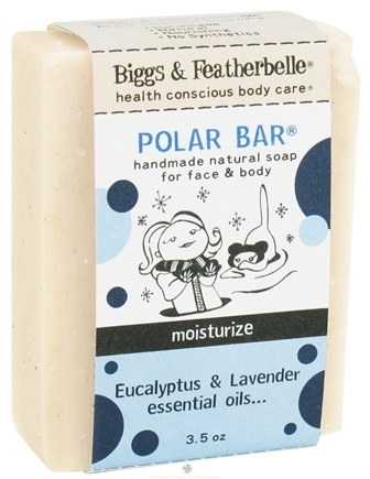 DROPPED: Biggs & Featherbelle - Polar Bar Handmade Natural Soap Eucalyptus & Lavender Essential Oils - 3.5 oz. CLEARANCE PRICED