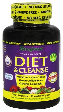 Rainforest - Diet & Cleanse - 45 Vegetarian Capsules