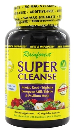 Rainforest - Super Cleanse - 90 Vegetarian Capsules