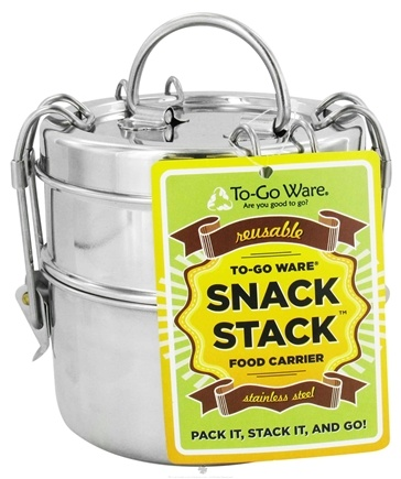 DROPPED: To-Go Ware - Snack Stack 2-Tier Tiffin Set Stainless Steel Food Carrier - CLEARANCE PRICED