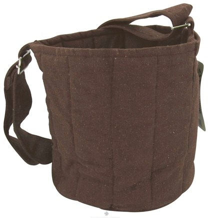 DROPPED: To-Go Ware - 3-Tier Recycled Cotton Carrier Bag Plum Brown - CLEARANCE PRICED