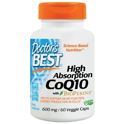 Doctor's Best - High Absorption CoQ10 600 mg. - 60 Vegetarian Capsules