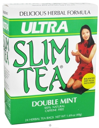 DROPPED: Hobe Labs - Ultra Slim Tea 100% Natural Caffeine Free Double Mint - 24 Tea Bags CLEARANCE PRICED