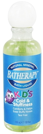 DROPPED: Queen Helene - Batherapy Kid's Cold & Stuffiness Natural Mineral Bath Liquid - 10 oz. CLEARANCE PRICED