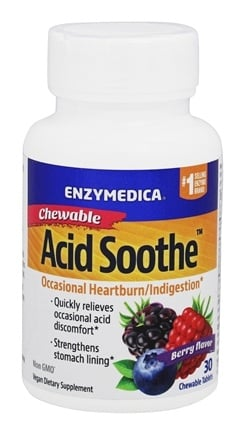 DROPPED: Enzymedica - Acid Soothe Berry Burst - 30 Chewable Tablets