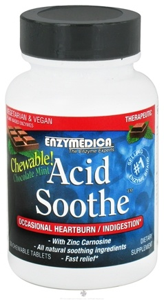 DROPPED: Enzymedica - Acid Soothe with Zinc Carnosine Chocolate Mint - 30 Chewable Tablets