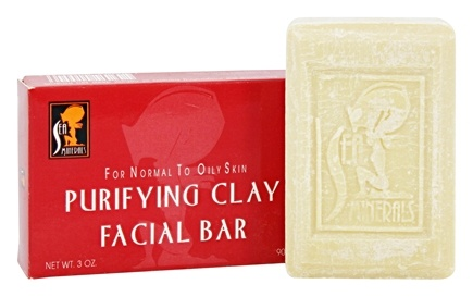 DROPPED: Sea Minerals - Purifying Clay Facial Bar For Normal To Oily Skin - 3 oz. CLEARANCE PRICED