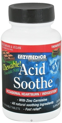 DROPPED: Enzymedica - Acid Soothe Chocolate Mint - 90 Chewable Tablets