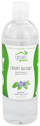 DROPPED: GrabGreen - Dish Soap Thyme with Fig Leaf - 16 oz. CLEARANCE PRICED