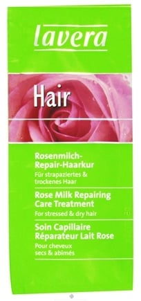 DROPPED: Lavera - Care Treatment Repairing For Stressed & Dry Hair Rose Milk - 0.8 oz. CLEARANCE PRICED