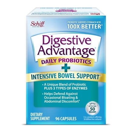 Schiff - Digestive Advantage Intensive Bowel Support - 96 Capsules