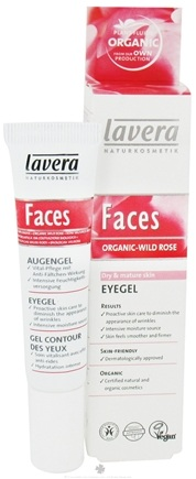 DROPPED: Lavera - Faces Eye Gel Organic Wild Rose - 0.5 oz. CLEARANCE PRICED