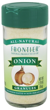 DROPPED: Frontier Natural Products - Onion Granules All-Natural - 2.29 oz. CLEARANCE PRICED