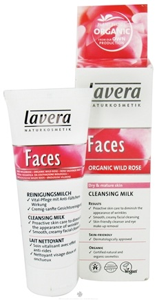 DROPPED: Lavera - Faces Cleansing Milk Organic Wild Rose - 2.5 oz. CLEARANCE PRICED