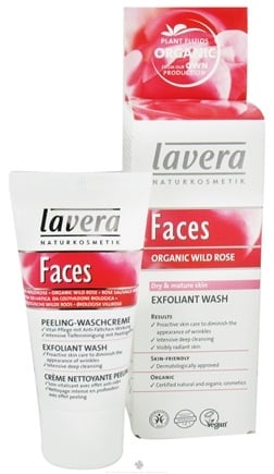 DROPPED: Lavera - Faces Exfoliant Wash Organic Wild Rose - 1 oz. CLEARANCE PRICED