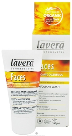 DROPPED: Lavera - Faces Exfoliant Wash Organic Calendula - 1 oz. CLEARANCE PRICED