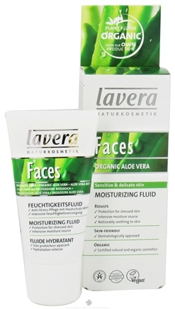 DROPPED: Lavera - Faces Moisturizing Fluid Organic Aloe Vera - 1 oz.