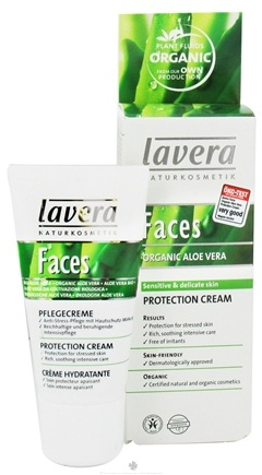 DROPPED: Lavera - Faces Protection Cream Organic Aloe Vera - 1 oz. CLEARANCE PRICED