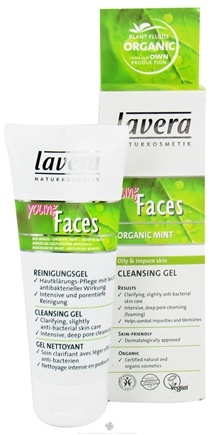 DROPPED: Lavera - Young Faces Cleansing Gel Organic Mint - 2.5 oz. CLEARANCE PRICED