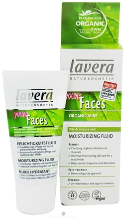 DROPPED: Lavera - Young Faces Moisturizing Fluid Organic Mint - 1 oz. CLEARANCE PRICED