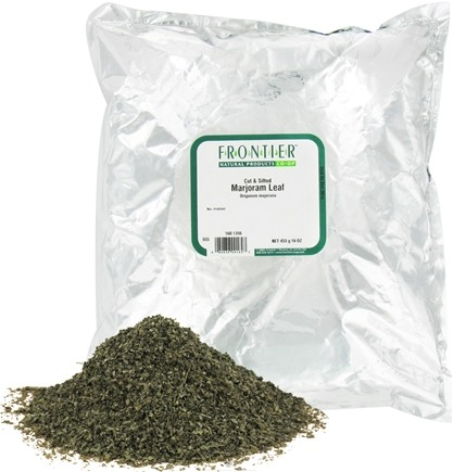 DROPPED: Frontier Natural Products - Marjoram Leaf Cut & Sifted - 1 lb. CLEARANCE PRICED