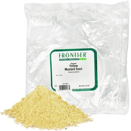 DROPPED: Frontier Natural Products - Mustard Seed Yellow Ground - 1 lb. CLEARANCE PRICED