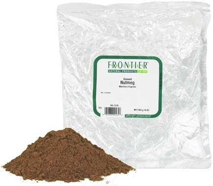 DROPPED: Frontier Natural Products - Nutmeg Ground - 1 lb. CLEARANCE PRICED