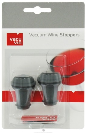 DROPPED: Vacu Vin - Vacuum Wine Stoppers Grey - 2 Pack CLEARANCE PRICED