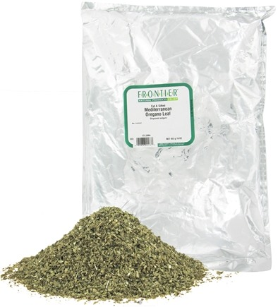 DROPPED: Frontier Natural Products - Oregano Leaf Mediterranean Cut & Sifted - 1 lb. CLEARANCE PRICED