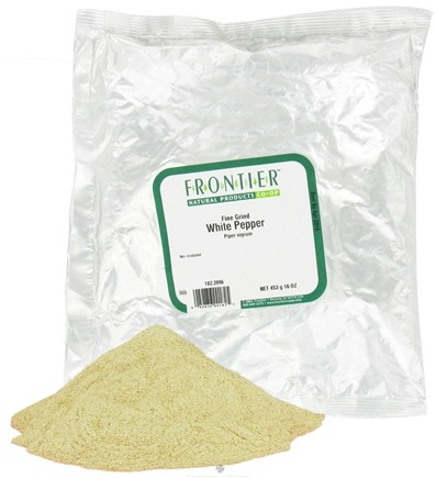 DROPPED: Frontier Natural Products - White Pepper Fine Grind - 1 lb. CLEARANCE PRICED