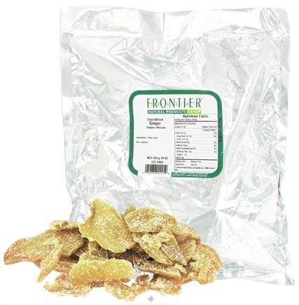 DROPPED: Frontier Natural Products - Ginger Pieces Crystallized - 1 lb.